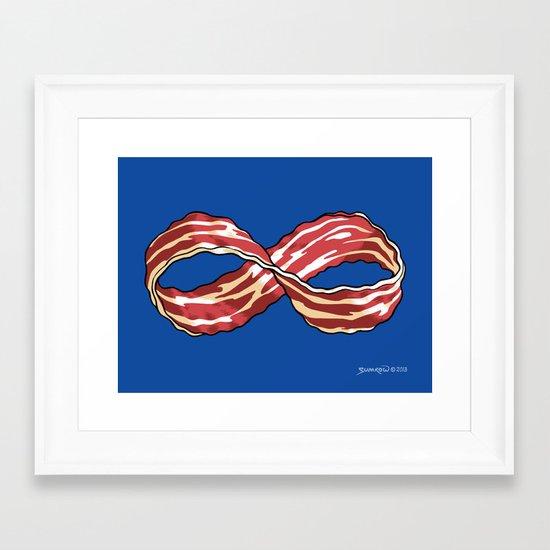 Infinite Bacon Framed Art Print
