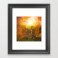 The Land In The Universe Framed Art Print