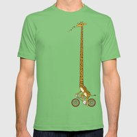 Long Bike Ride Mens Fitted Tee Grass SMALL