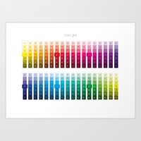 Color Grid Art Print