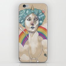 RAINBOW UNICORN iPhone & iPod Skin