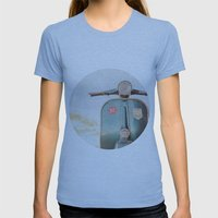 The Blue Vespa Womens Fitted Tee Athletic Blue SMALL