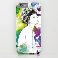 Bella fashion watercolor portrait iPhone 6 Slim Case