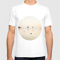 Surfer Dudes  Mens Fitted Tee White SMALL