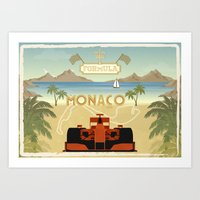 Formula 1 in Monaco Art Print