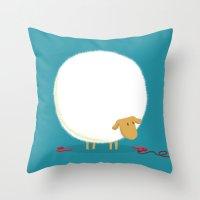 Fluffy Sheep Throw Pillow