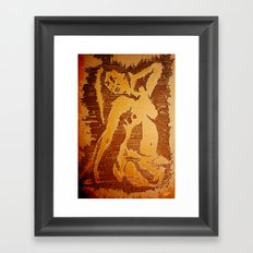 Recycled Nude Framed Art Print
