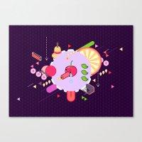 Tasty Visuals - Cherry Poppin' Canvas Print