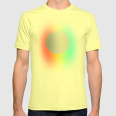 Subtle 1 Mens Fitted Tee Lemon SMALL