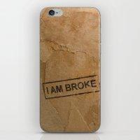Broke iPhone & iPod Skin