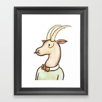 Sir Antelope Framed Art Print