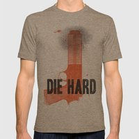 Die Hard Mens Fitted Tee Tri-Coffee SMALL