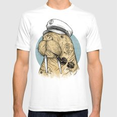 WALRUS Mens Fitted Tee SMALL White
