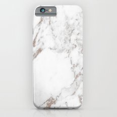 Rose gold shimmer vein marble iPhone 6s Slim Case