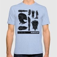 Decommissioned: Robocop Mens Fitted Tee Tri-Blue SMALL