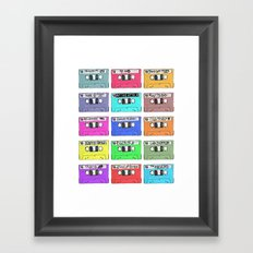 Cassettes - My Favourite Artists Framed Art Print
