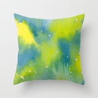 Vibrant sunshine tree top Throw Pillow