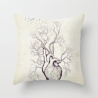 Treeheart Throw Pillow