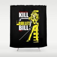 Kill Bullet Bill (Black/… Shower Curtain