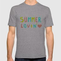 Summer Lovin' Mens Fitted Tee Athletic Grey SMALL