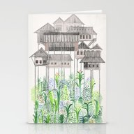 Stationery Cards featuring Stilts by David Fleck