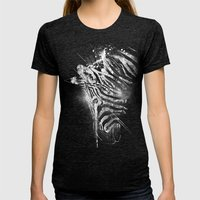 Zebra Mood - White Womens Fitted Tee Tri-Black SMALL