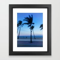 Palms in the Wind Framed Art Print