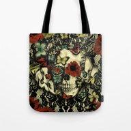 Vintage Gothic Lace Skul… Tote Bag