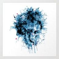 Skull Splash Art Print