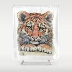 Cute Tiger Cub 903 Shower Curtain