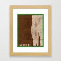 Minimalist Rogue Framed Art Print