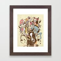 The Great Horse Race! Framed Art Print