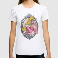 Zombie Sleeping Beauty Womens Fitted Tee Ash Grey SMALL