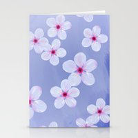 Cherry Blossoms - Painti… Stationery Cards