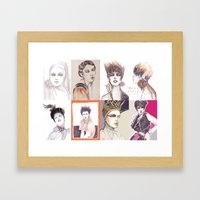 Fashion Illustration Com… Framed Art Print