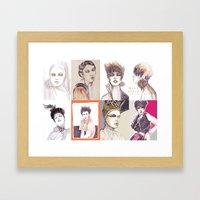 Fashion Illustration Com… Framed Art Print