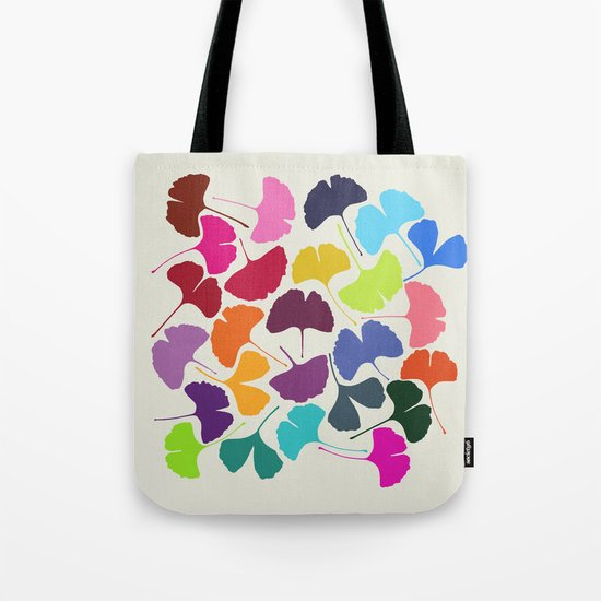 Ginkgo Multicolor Tote Bag