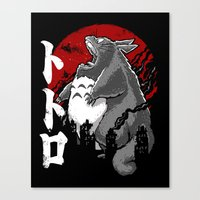 Totorozilla Canvas Print