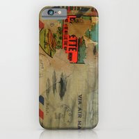 iPhone & iPod Case featuring Via Air Mail by Nick Douillard