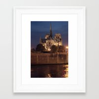 Paris by Night: Notre Dame Framed Art Print