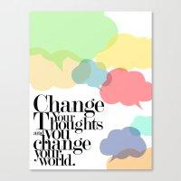 CHANGE YOUR WORLD Canvas Print