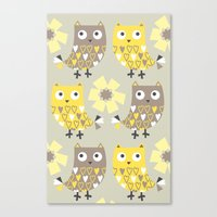 Canvas Print featuring Hooty Tooty by shiny orange dreams