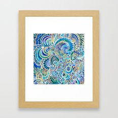 A Snowflake and Angels Wings - a rokinronda Abstract Framed Art Print