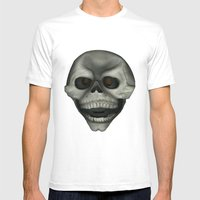 Skully Mens Fitted Tee White SMALL