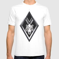 Diamante Mens Fitted Tee White SMALL