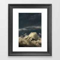 Misty Mountain Top Framed Art Print