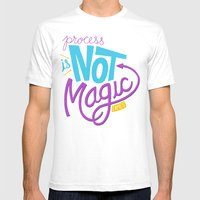 Process Is Not Magic  Mens Fitted Tee White SMALL