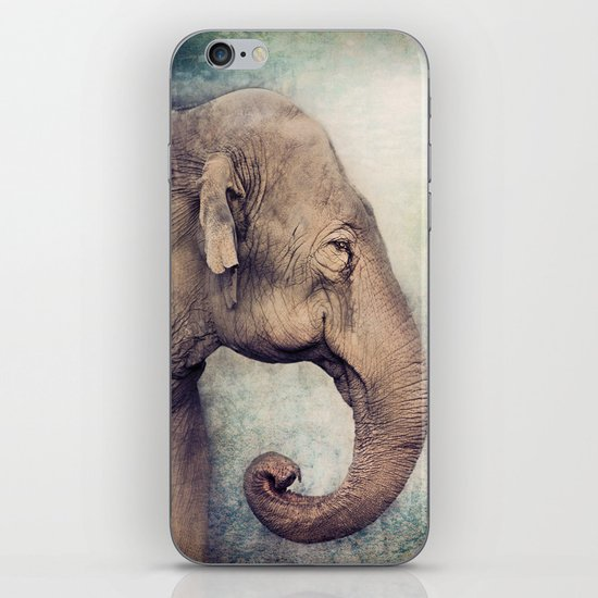 The smiling Elephant iPhone & iPod Skin