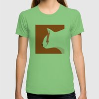 David Meowie Womens Fitted Tee Grass SMALL