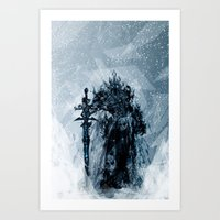 A Frosty King Art Print